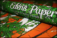 BNPS.co.uk (01202) 558833<br /> Picture: Eden'sPaper/BNPS<br /> <br /> ****Please use full byline****<br /> <br /> Carrot paper. <br /> <br /> Green-fingered British boffins have launched an ingenious Christmas wrapping paper laced with vegetable seeds that can be planted after use rather than thrown away and only costs &pound;5.<br /> <br /> They have packed each sheet of Eden's Paper full of onion, broccoli, chilli, tomato and carrot seeds in a bid to reduce the amount of wrapping paper thrown away.<br /> <br /> Once eager recipients have torn open their presents they can then plant the discarded wrapping paper in the ground where it decomposes and releases the seeds.<br /> <br /> With a little bit of care and attention the seeds then grow into vegetable plants.