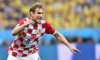 FUSSBALL WM 2014  VORRUNDE    Gruppe A    12.06.2014 Brasilien - Kroatien Jubel: Nikica Jelavic Kroatien)