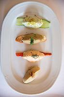 Turkish Ottoman cuisine food Hums meal in Restaurant Asitane by Chora in area of Kariye Muzesi, Edirnekapi in Istanbul, Turkey