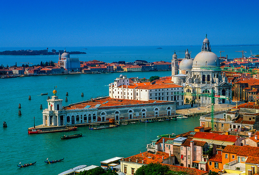View of the Grand Canal (with Chiesa della Salute in back), Venice, Italy