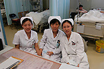 3 nurses in a Beijing hospital.