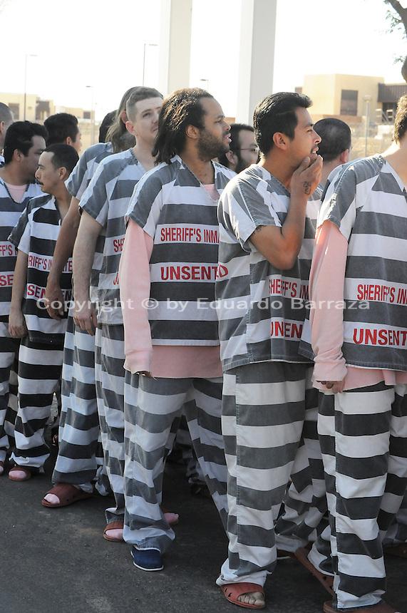 Phoenix, Arizona. April 17, 2009 - Nine hundred Maricopa County Jail ...