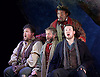 La Boheme <br /> by Puccini <br /> English Touring Opera at the Hackney Empire, London, Great Britain <br /> rehearsal <br /> 11th March 2015 <br /> <br /> David Butt Philip as Rodolfo <br /> <br /> Njabulo Madlala as Schaunard<br /> <br /> Matthew Stiff as Colline <br /> <br /> Adam Player as Benot <br /> <br /> Andrew Glover as Alcindoro <br /> <br /> <br /> <br /> <br /> <br /> Photograph by Elliott Franks <br /> Image licensed to Elliott Franks Photography Services