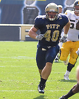 September 20, 2008: Pitt linebacker Scott McKillop. The Pitt Panthers defeated the Iowa Hawkeyes 21-20 on September 20, 2008 at Heinz Field, Pittsburgh, Pennsylvania.