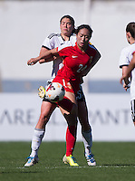 Vila Real de Santo Antonio, Portugal - March 6, 2015: Germany defeated China 2-0 during their group match at the Algarve Cup.
