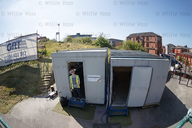 The photographers' shack at Firhill