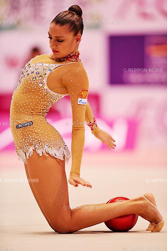 Evgeniya Kanaeva (RUS), OCTOBER 28, 2011 - Rhythmic Gymnastics : AEON CUP 2011 Worldwide R.G. Club Championships at Tokyo Metropolitan Gymnasium, Tokyo, Japan. (Photo by Jun Tsukida/AFLO SPORT) [0003]