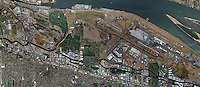aerial map Portland International Airport, PDX