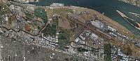 aerial map Portland International Airport, PDX