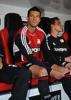 FUSSBALL   1. BUNDESLIGA   SAISON 2011/2012    4. SPIELTAG Bayer 04 Leverkusen - Borussia Dortmund              27.08.2011 Michael BALLACK (Leverkusen) auf der Ersatzbank.
