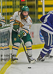 14 February 2015: University of Vermont Catamount Defender Gina Repaci, a Junior from Toronto, Ontario, in second period action against the University of New Hampshire Wildcats at Gutterson Fieldhouse in Burlington, Vermont. The Lady Catamounts rallied from a 3-1 deficit to earn a 3-3 tie in the final home game of their NCAA Hockey East season. Mandatory Credit: Ed Wolfstein Photo *** RAW (NEF) Image File Available ***