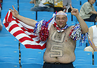USA fan. The USA lost to Germany 1-0 in the Quarterfinals of the FIFA World Cup 2002 in South Korea on June 21, 2002.