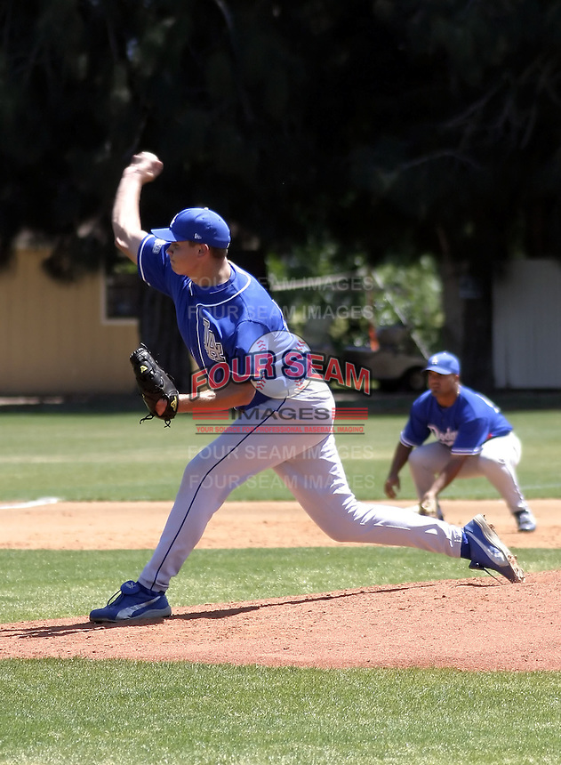 March 28, 2004:  Pitcher Casey Hoorelbeke of the Los Angeles Dodgers organization during Spring Training at Dodgertown in Vero Beach, FL.  Photo copyright Mike Janes/Four Seam Images