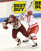Paul Carey (BC - 22), Ben Rosen (BU - 8) - The visiting Boston College Eagles defeated the Boston University Terriers 3-2 to sweep their Hockey East series on Friday, January 21, 2011, at Agganis Arena in Boston, Massachusetts.