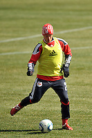 Teemu Tainio (2) of the New York Red Bulls during practice on Media Day at Red Bull Arena in Harrison, NJ, on March 15, 2011.