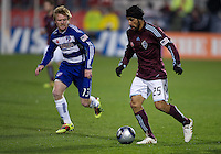 21 November 2010: Colorado Rapids defender/midfielder Pablo Mastroeni #25 and FC Dallas midfielder Dax McCarty #13 in action during the 2010 MLS CUP between the Colorado Rapids and FC Dallas at BMO Field in Toronto, Ontario Canada..The Colorado Rapids won 2-1 in extra time....