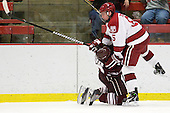 Chris Wagner (Colgate - 23), Dan Ford (Harvard - 5) - The Harvard University Crimson defeated the visiting Colgate University Raiders 6-2 (2 EN) on Friday, January 28, 2011, at Bright Hockey Center in Cambridge, Massachusetts.
