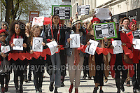 Supporters at the rally.<br /> <br /> Cardiff, South Wales. Sunday May 11th 2014. Nigerians in Cardiff in organised rally in support of the 276 abducted school children in Chibok, Nigeria by Boko Haram terrorists. <br /> <br /> Photo by Jeff Thomas/Jeff Thomas Photography