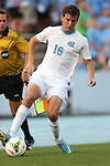 29 August 2014: North Carolina's Rob Lovejoy. The University of North Carolina Tar Heels hosted the University of California Bears at Fetzer Field in Chapel Hill, NC in a 2014 NCAA Division I Men's Soccer match. North Carolina won the game 3-1.