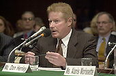 Don Henley testifies before the United States Senate Judiciary Committee in Washington, D.C. concerning copyright issues related to the online entertainment industry on April 3, 2001..Credit: Ron Sachs / CNP