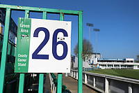 County Corner Stand area 26 signage during Essex CCC vs Lancashire CCC, Specsavers County Championship Division 1 Cricket at The Cloudfm County Ground on 9th April 2017