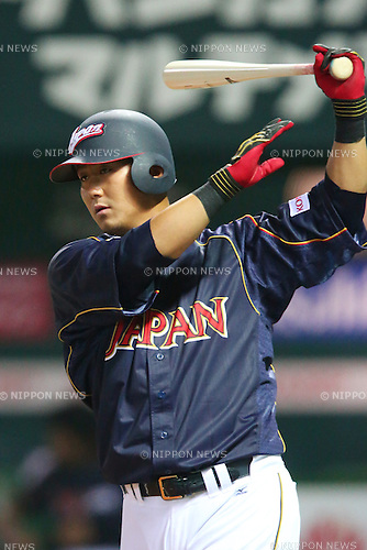 Sho Nakata (JPN), .MARCH 6, 2013 - WBC : .2013 World Baseball Classic .1st Round Pool A .between Japan 3-6 Cuba .at Yafuoku Dome, Fukuoka, Japan. .(Photo by YUTAKA/AFLO SPORT)