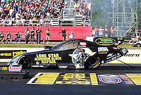 May 13, 2016; Commerce, GA, USA; NHRA funny car driver Jim Campbell during qualifying for the Southern Nationals at Atlanta Dragway. Mandatory Credit: Mark J. Rebilas-USA TODAY Sports