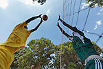 Students play volleyball at the John Paul II School in Wau, South Sudan.