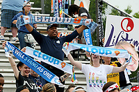 Piscataway, NJ - Saturday May 20, 2017: Sky Blue FC Cloud Nine Supporters Group prior to a regular season National Women's Soccer League (NWSL) match between Sky Blue FC and the Houston Dash at Yurcak Field.  Sky Blue defeated Houston, 2-1.