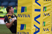 Tom Lindsay of London Wasps RFC celebrates his try - London Wasps RFC vs Saracens RFC - Aviva Premiership Rugby at Adams Park, Wycombe Wanderers FC - 12/02/12 - MANDATORY CREDIT: Ray Lawrence/TGSPHOTO - Self billing applies where appropriate - 0845 094 6026 - contact@tgsphoto.co.uk - NO UNPAID USE.
