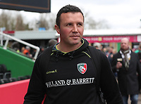Leicester Tigers Head Coach Aaron Mauger<br /> <br /> Photographer Rachel Holborn/CameraSport<br /> <br /> Anglo-Welsh Cup Final - Exeter Chiefs v Leicester Tigers - Sunday 19th March 2017 - The Stoop - London<br /> <br /> World Copyright &copy; 2017 CameraSport. All rights reserved. 43 Linden Ave. Countesthorpe. Leicester. England. LE8 5PG - Tel: +44 (0) 116 277 4147 - admin@camerasport.com - www.camerasport.com