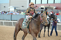 HOT SPRINGS, AR - APRIL 15: Lookin At Lee #6, with jockey Luis Contreras aboard after the running of the Arkansas Derby at Oaklawn Park on April 15, 2017 in Hot Springs, Arkansas. (Photo by Justin Manning/Eclipse Sportswire/Getty Images)