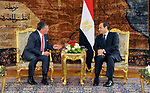 Egyptian President Abdel Fattah al-Sisi meets with Jordan's King Abdullah II in the Egyptian capital Cairo, on May 17, 2017. Photo by Egyptian President Office