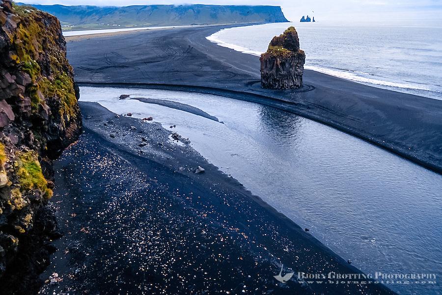 Iceland. The small peninsula Dyrhólaey was formerly an island of volcanic origin.