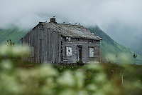 Abandoned house, Vestvågøy, Lofoten Islands, Norway