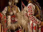 Diptych of &quot;Eagle Feathers&quot; Native American Pow Wow Regalia. Examples of his ethnic pride, heritage and culture. A  celebration of Indian traditional folk art crafts.<br /> <br /> Powwow Regalia - GOR-84457-11<br /> Powwow Regalia - GOR-84454-11