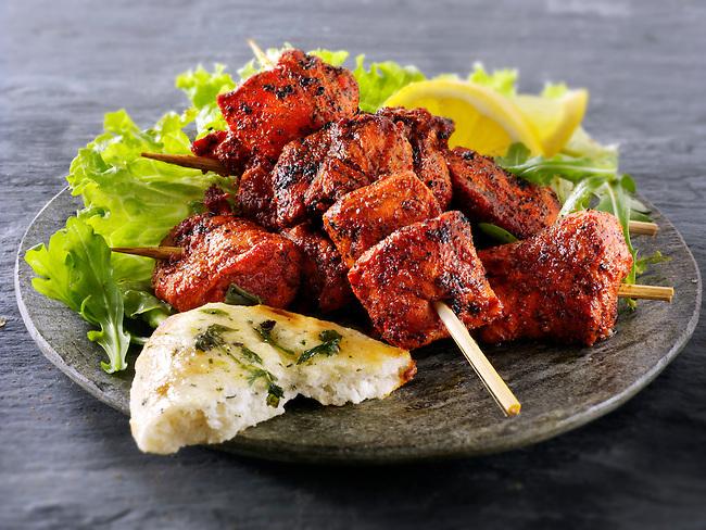 Chicken Tikka with salad & naan bread. | Photos Gallery