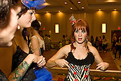 September 17, 2010.  Raleigh, North Carolina..(Left to Right)  Lauren Youngman and Ashley Reynolds listen as designer Domino gives her pre runway speech.