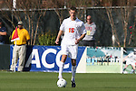 15 November 2009: Virginia's Mike Volk. The University of Virginia Cavaliers defeated the North Carolina State University Wolfpack at WakeMed Stadium in Cary, North Carolina in the Atlantic Coast Conference Men's Soccer Tournament Championship game.