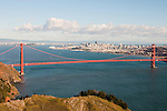 Marin Headlands; sightseeing; Golden Gate Bridge, San Francisco, California, USA.  Photo copyright Lee Foster.  Photo # california108848