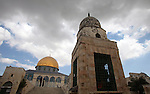 The Dome of the Rock mosque is seen at the al-Aqsa mosque compound in Jerusalem, Sept. 30, 2014. Muslims worldwide are celebrating Eid al-Adha, or Feast of the Sacrifice, commemorating God's provision of a ram to substitute for Abraham's impending sacrifice of his son, where able Muslims offer either a goat, sheep, cow, buffalo, or camel during the feast rituals. Photo by Ameer Abed Rabbo