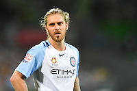 Melbourne, 6 January 2017 - LUKE BRATTAN (26) of Melbourne City reacts after missing a shot on goal in the round 14 match of the A-League between Melbourne City and Western Sydney Wanderers at AAMI Park, Melbourne, Australia. Melbourne won 1-0 (Photo Sydney Low / sydlow.com)
