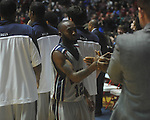 "Ole Miss guard Chris Warren (12) is congratulated as he leaves the court at C.M. ""Tad"" Smith in Oxford, Miss. on Saturday, March 5, 2010. Ole Miss won 84-74."