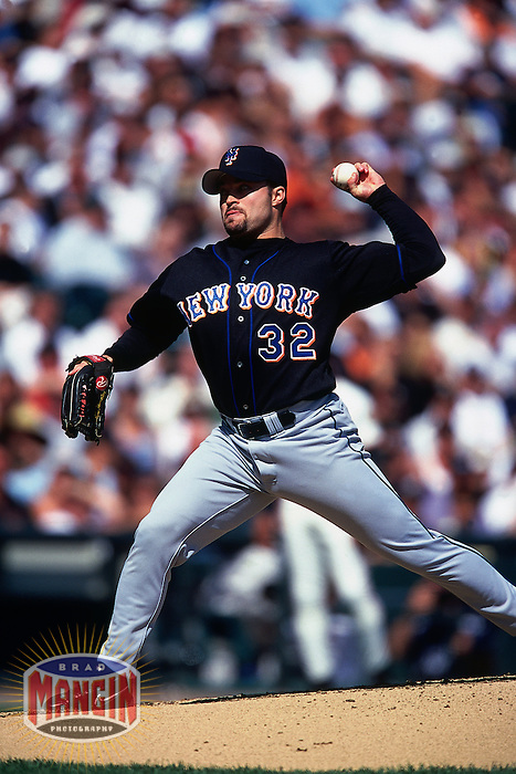 SAN FRANCISCO, CA - Mike Hampton of the New York Mets in action during a game against the San Francisco Giants at Pacific Bell Park in San Francisco, California in 2000. Photo by Brad Mangin