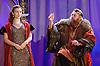 King Lear<br /> Guildford Shakespeare Company Presents <br /> at Holy Trinity Church, Guildford, Surrey, Great Britain <br /> Press photocall <br /> 17th January 2015 <br /> directed by Caroline Devlin <br /> designed by Neil Irish <br /> Lighting by Declan Randal<br /> Sound by Matt Eaton <br /> Emily Tucker as Cordelia<br /> Brian Blessed as King Lear <br /> <br /> Photograph by Elliott Franks <br /> Image licensed to Elliott Franks Photography Services