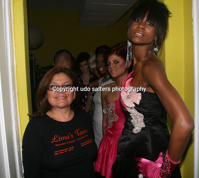 Lima's Taste Owner Nelly Godfrey and Models attend the Pamela Quinzi Fashion Show Presented by Pamela Quinzi & Eya BeGood Held at Lima's Taste, 6/18/10