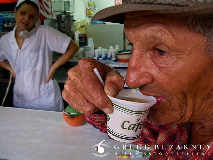 Despite the fact that Colombia produces some of the world's finest coffee, most locals consume cheap Robusta brews while more expensive beans are shipped to Europe or North America.  However, in the past few years, with a growing middle class and economic prosperity, internal demand and appreciation for high-end coffee is up and Colombians are keeping some of the best roast for themselves. Zona Cafeteria - Colombia