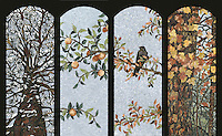 15 x 41 inch Four Seasons panels in 1.0cm marble polished