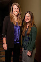 UWRF McNair Scholar, Marissa Holst, left, and faculty mentor Melanie Ayres, right.<br />