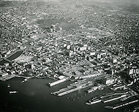 1952 December 19..Historical...Looking North at Docks & Waterfront Freemason Area..PHOTO CRAFTSMEN INC..NEG#.NRHA#..